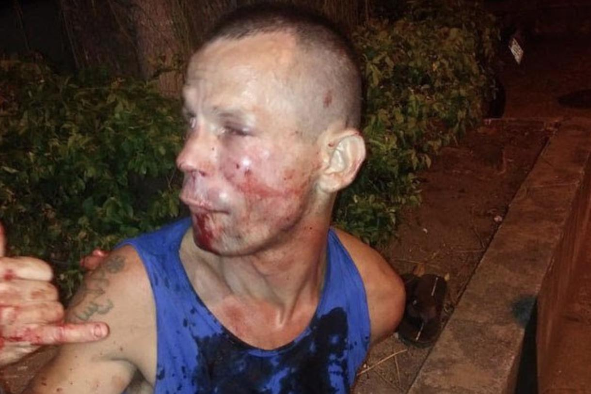 This was the result after the robber picked the wrong person to cross