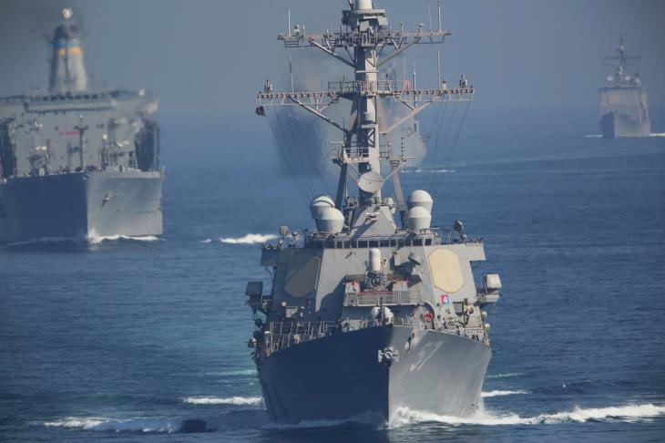 Vessels in US Navy carrier strike groups could be targets for the missile batteries