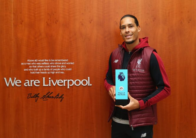Prem Player of the Month Van Dijk is also in Uefas Team of the Year