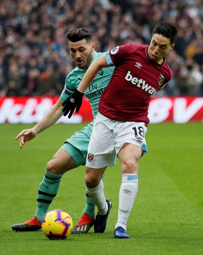 Samir Nasri started his first Premier League game - and caused problems for his former side from the start