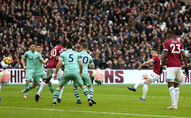Declan Rice scored a beauty for West Ham to see off Arsenal