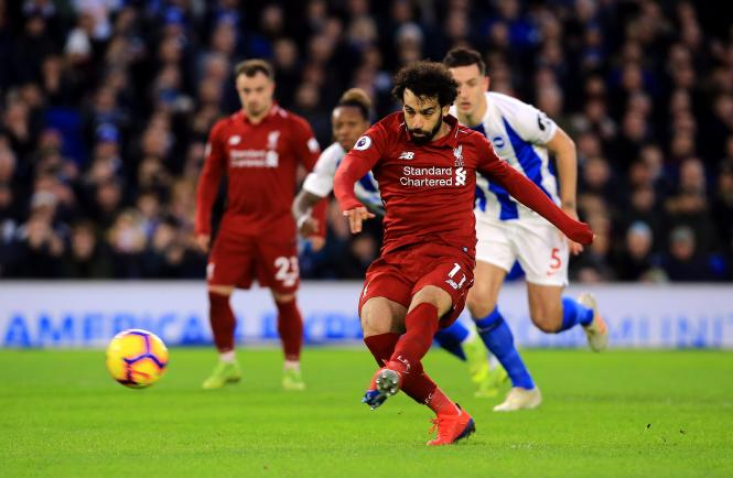 Mo Salah scored the only goal of the game as Liverpool beat Brighton 1-0