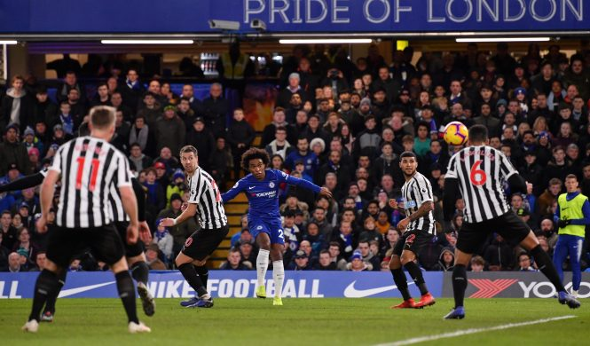 Willian curled home what proved to be the winner as Chelsea strengthened their top four hopes