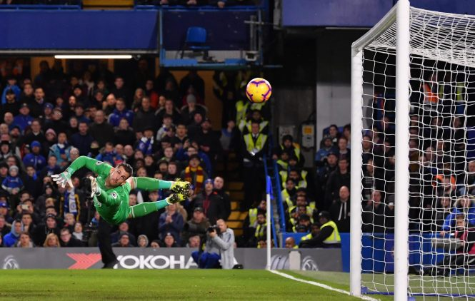 Martin Dubravka was beaten all ends up as Chelsea moved into a 2-1 lead
