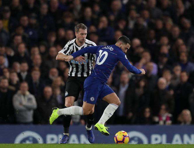 Eden Hazard dislikes playing the 'false nine' role