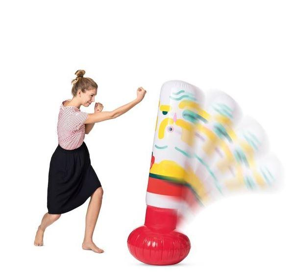 You can also relieve some of that shopping stress by picking up an inflatable punch bag for £2, down from its original price of £8