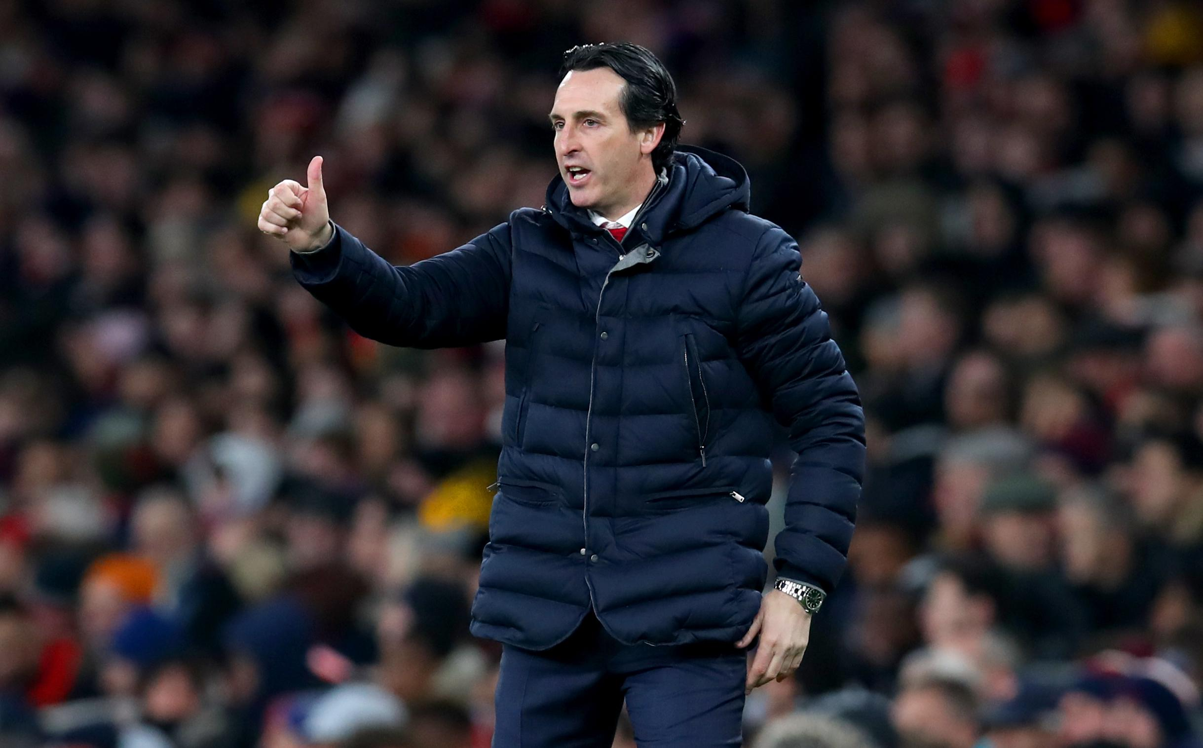 Unai Emery's side are fifth in the Premier League after 23 games