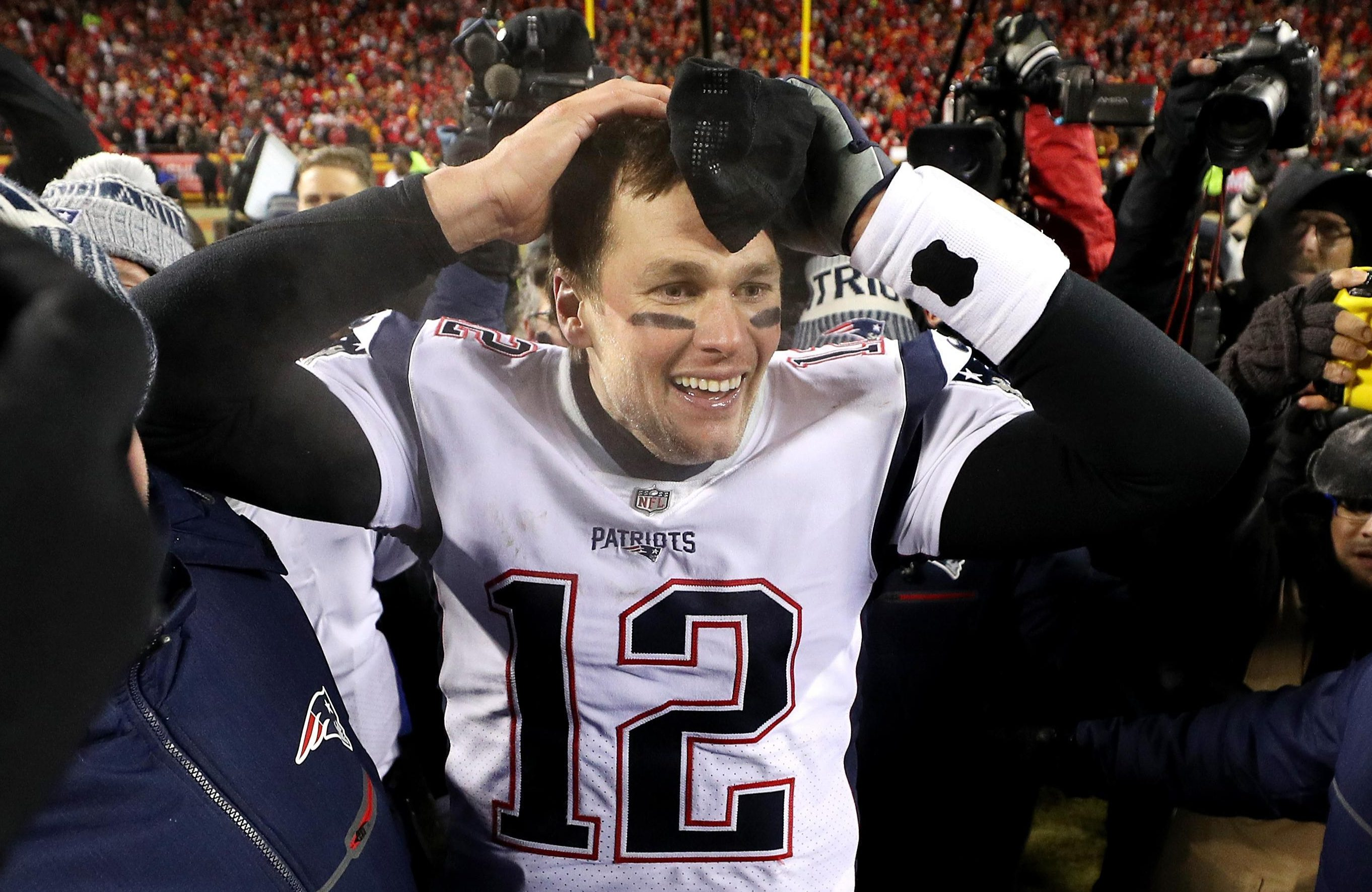 Brady can't hide his shock after clinching a dramatic overtime win