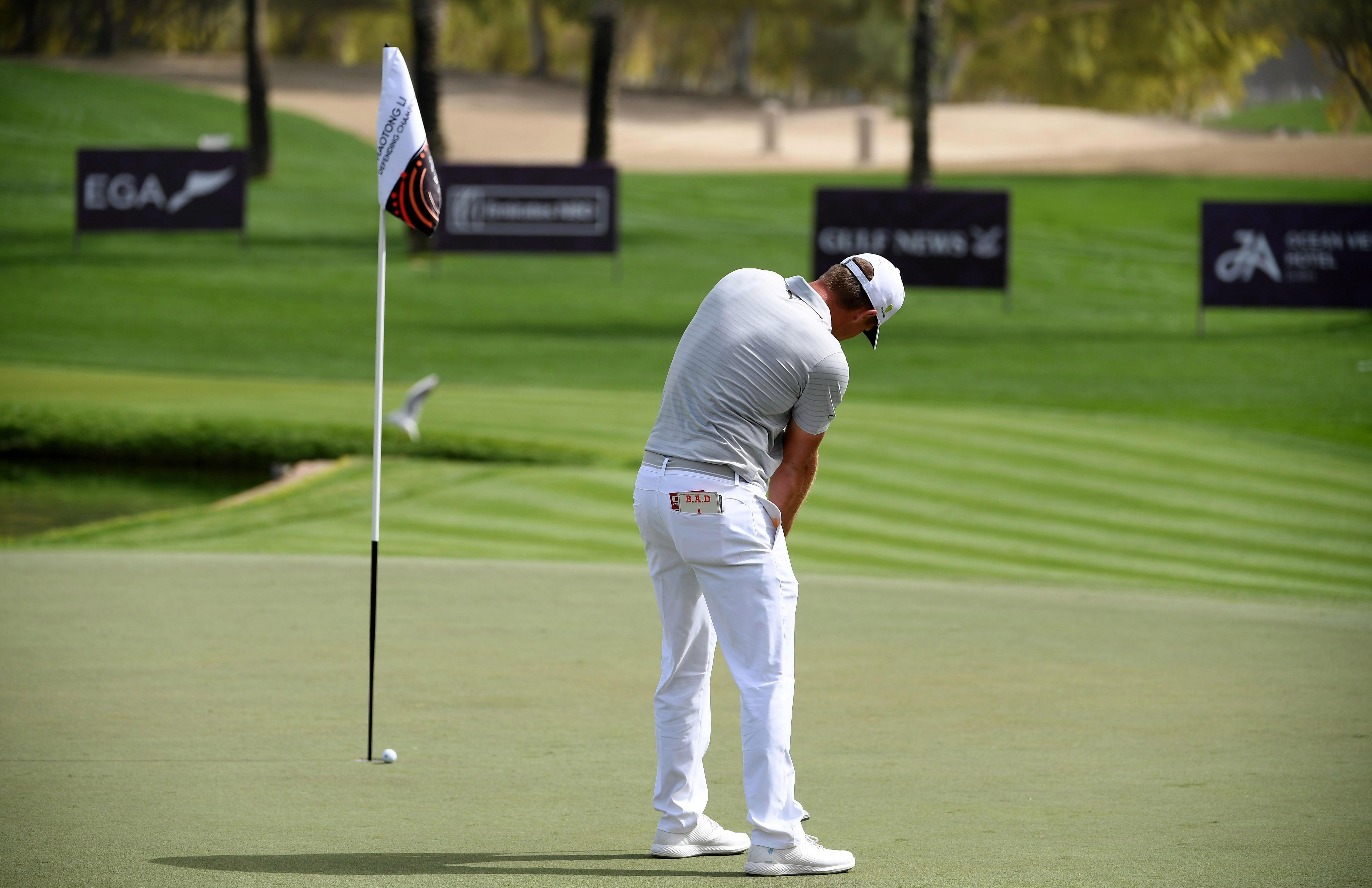 Bryson DeChambeau leaves the flagstick in on any putt longer than ten feet