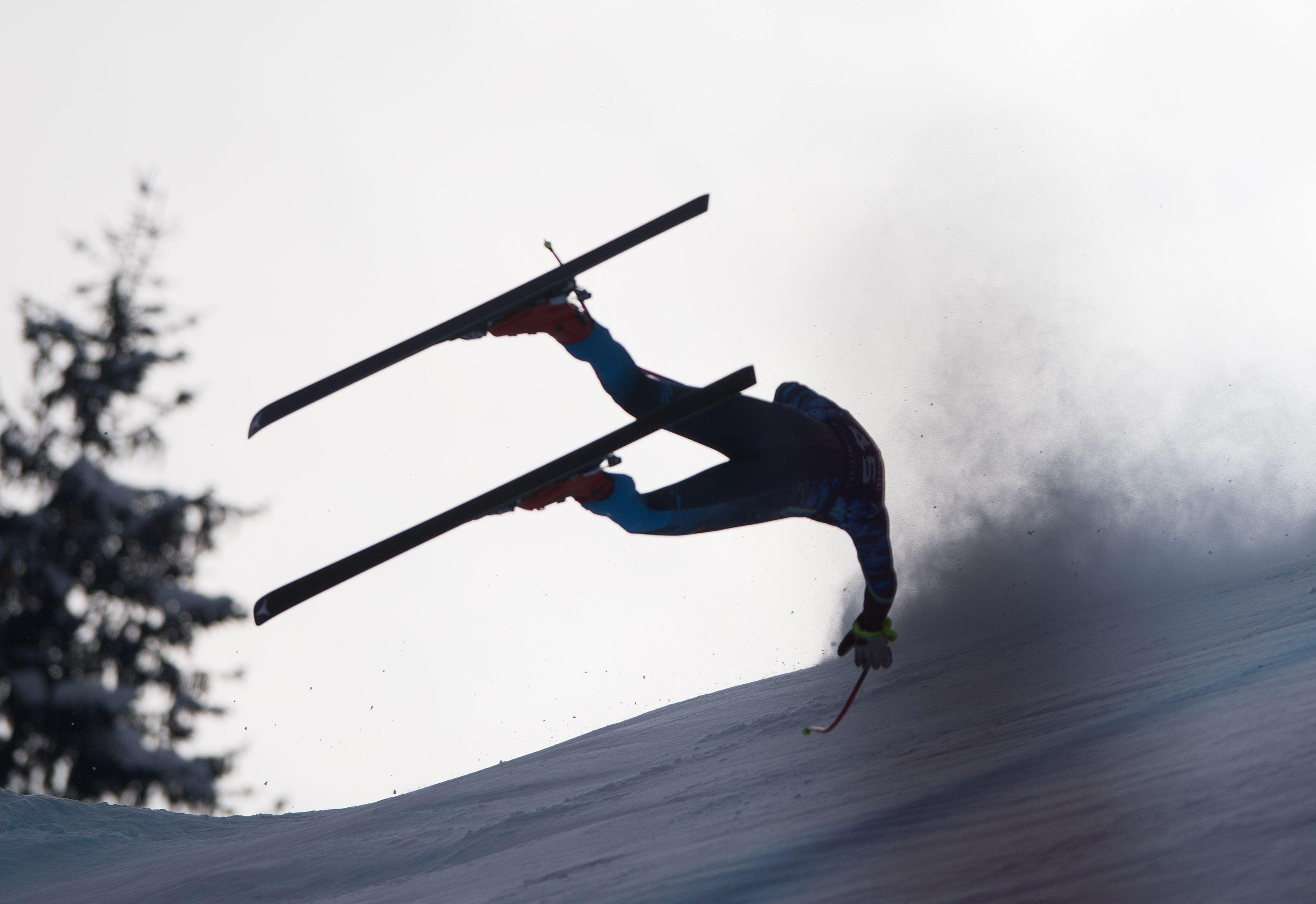 Alexander Koell suffered a horror crash during the skiing World Cup in Austria