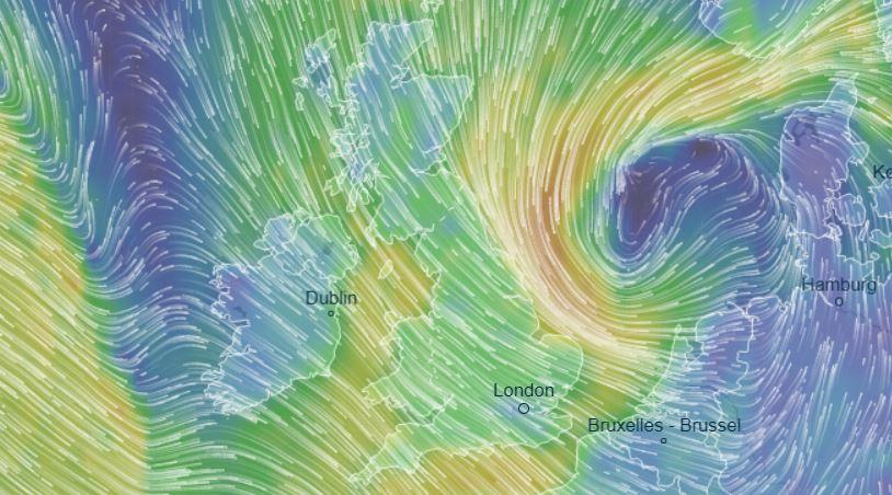 Brits will be thrashed by icy 70mph winds and snow today