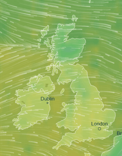 UK weather will see a welcome blast of warmer air from balmy southern climes today