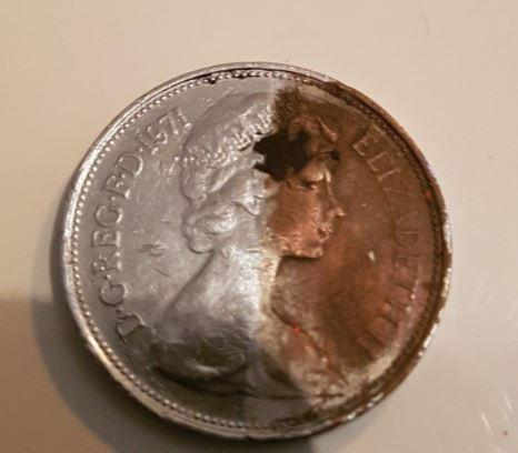 This isn't an official error coin but it still fetched a high price on eBay