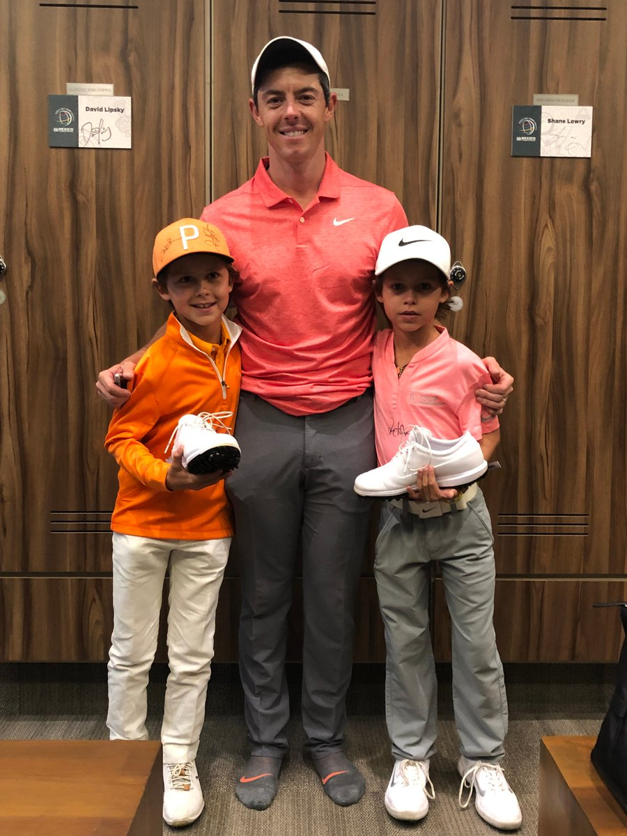 Rory McIlroy made a crying mini-me's day with a signed glove and shoes