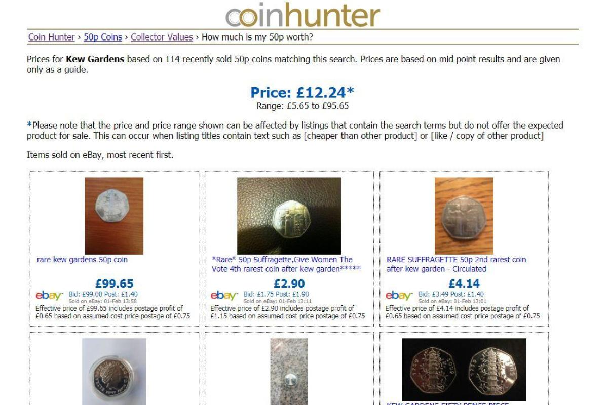 New Coin Hunter Tool Reveals How Much Your Rare 50p Is Worth On Ebay And You Get Up To 160