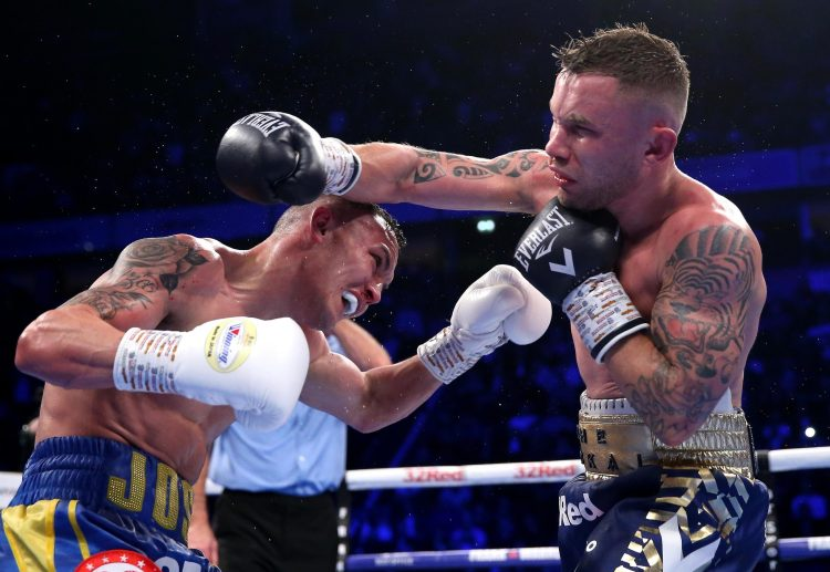 Josh Warrington and Carl Frampton were involved in one of the fights of 2018 in Manchester just before Christmas