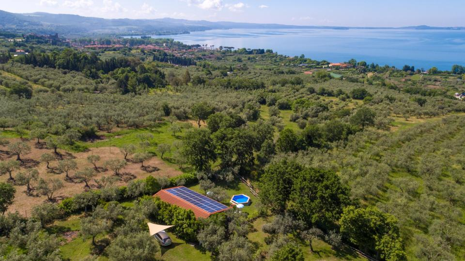 Casa Francigena is set high up in the hills surrounded by olive groves and farmland