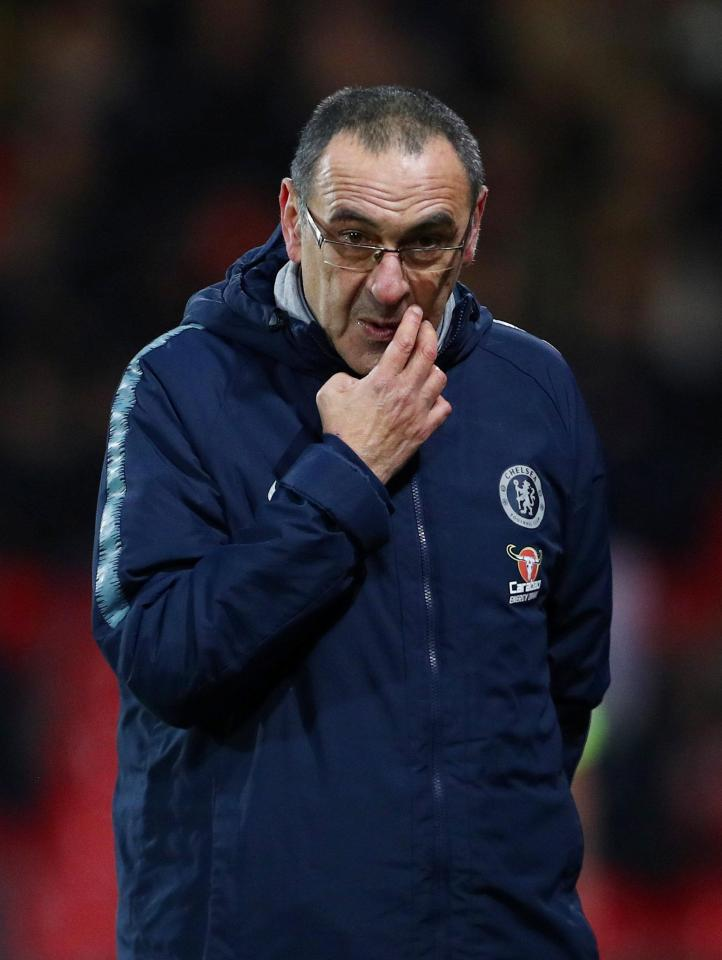 Maurizio Sarri is under-fire for his tactics but refusing to change style