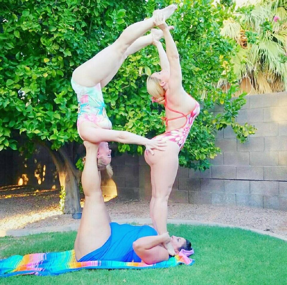 Image result for Yoga lovers and CELEBS spell out the alphabet with impressively bendy poses