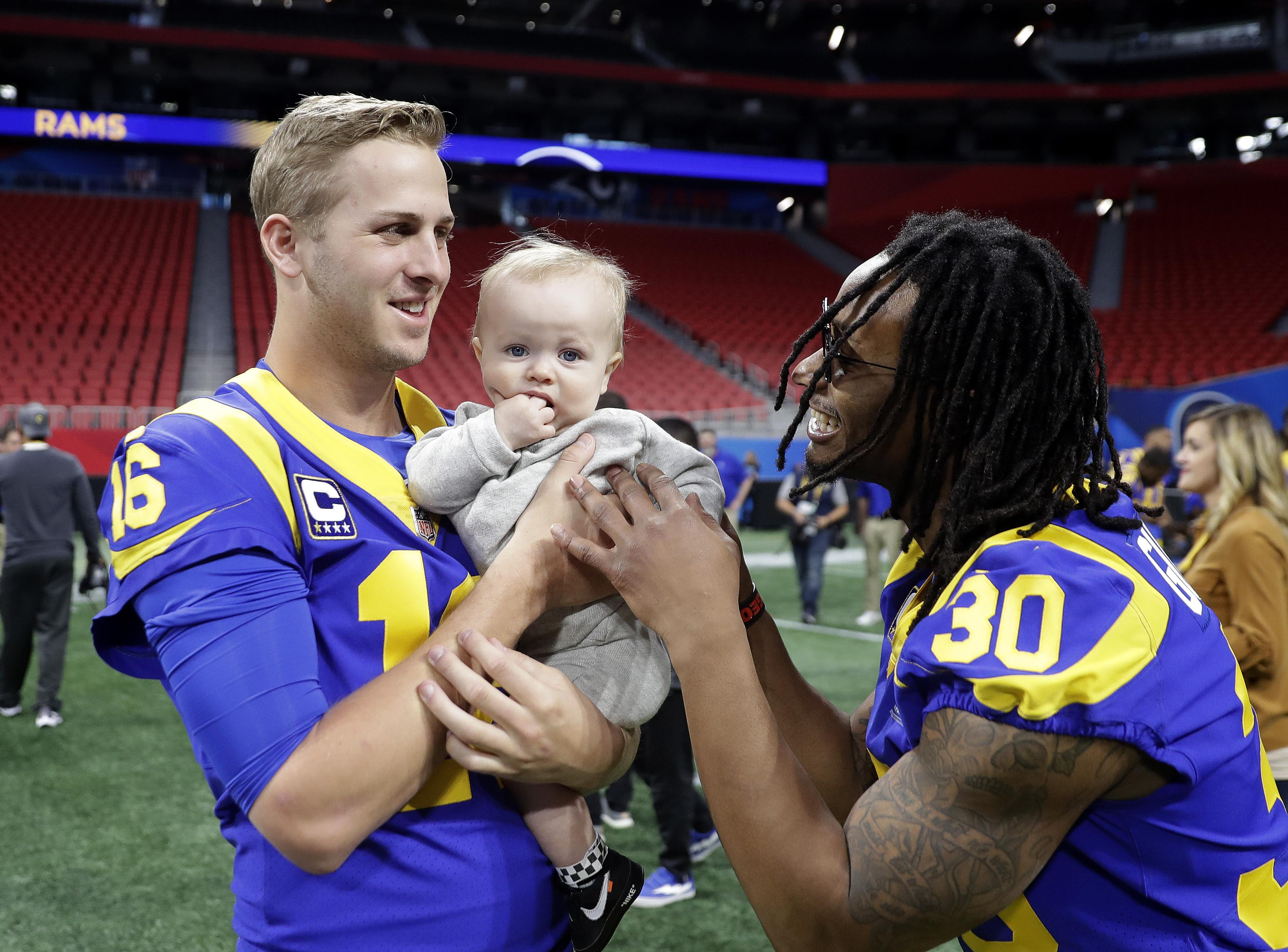 Jared Goff, left, and Todd Gurley are two of the Rams' attacking weapons