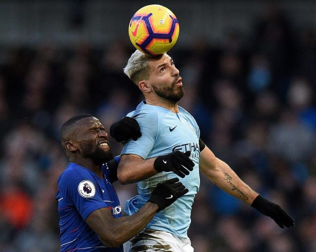Rudiger and his fellow Chelsea defenders struggled to deal with Sergio Aguero, who scored another Premier League hat-trick