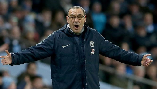 Mauruizio Sarri has seen Chelsea lose 4-0 and 6-0 in their past two Premier League away games