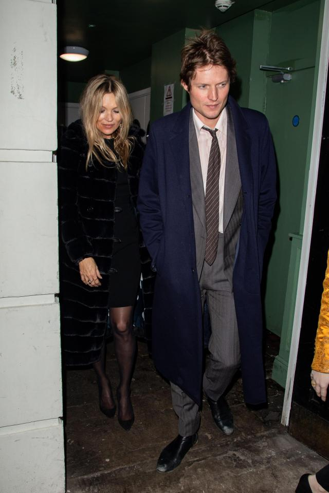 Kate Moss and Count Nikolai von Bismarck leaving the Bafta party at Annabel's in London