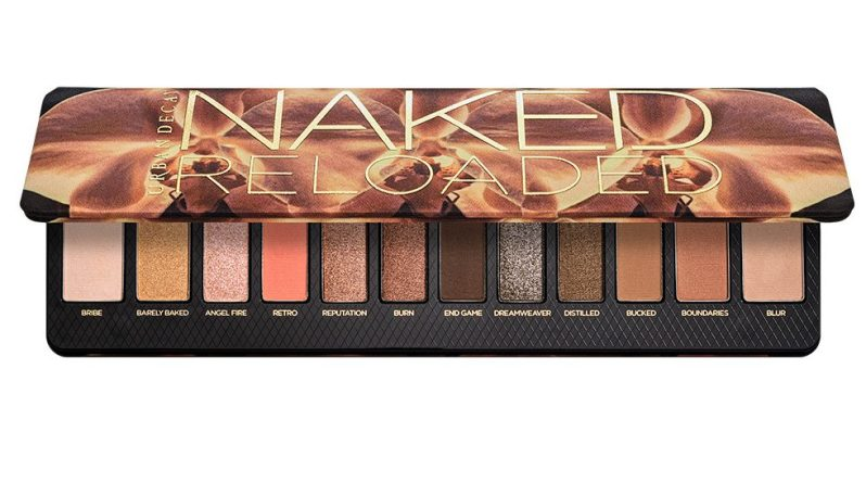 The new Naked Reloaded palette features 12 versatile, shimmery shades including two neutrals
