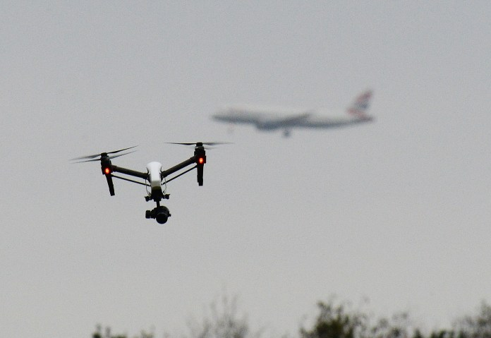 Anyone flouting the new three-mile 'drone exclusion zone' could face penalties up to and including life in jail