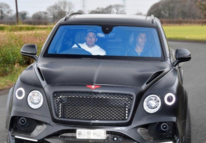 Jesse Lingard was seen arriving for training at Carrington earlier today