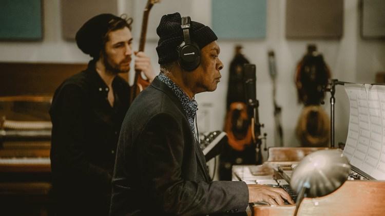 Hozier in the studio recording his new album