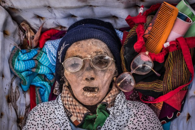 Bodies are buried with their favourite belongings