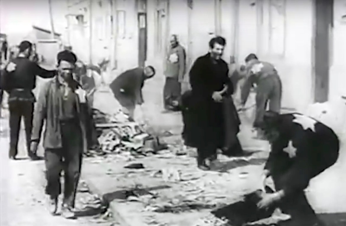Above: documentary video showing the Brest ghetto, from 1941-1942