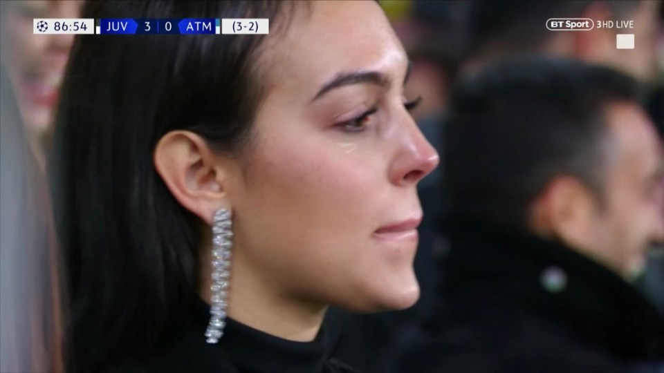 Georgina Rodriguez couldn't fight back the tears of joy