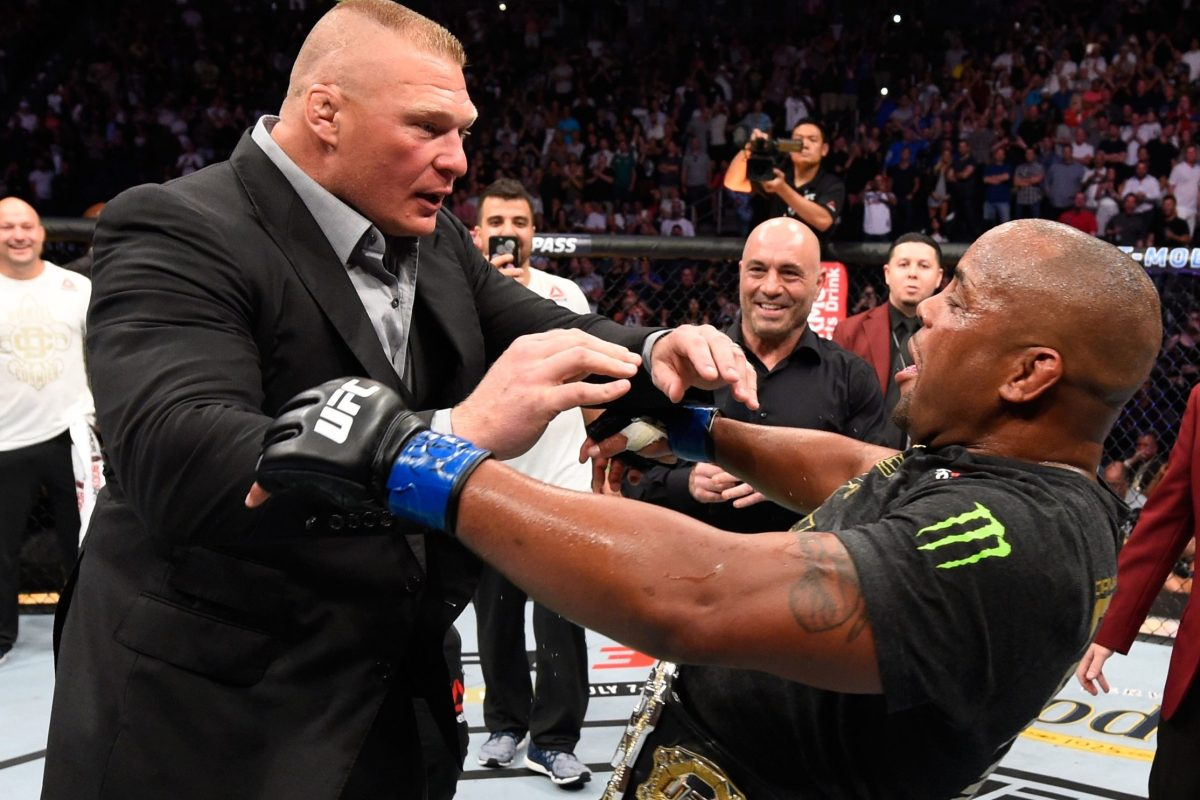 e715dc60898 UFC legend Cormier hints at crossover clash with rival Brock Lesnar in WWE