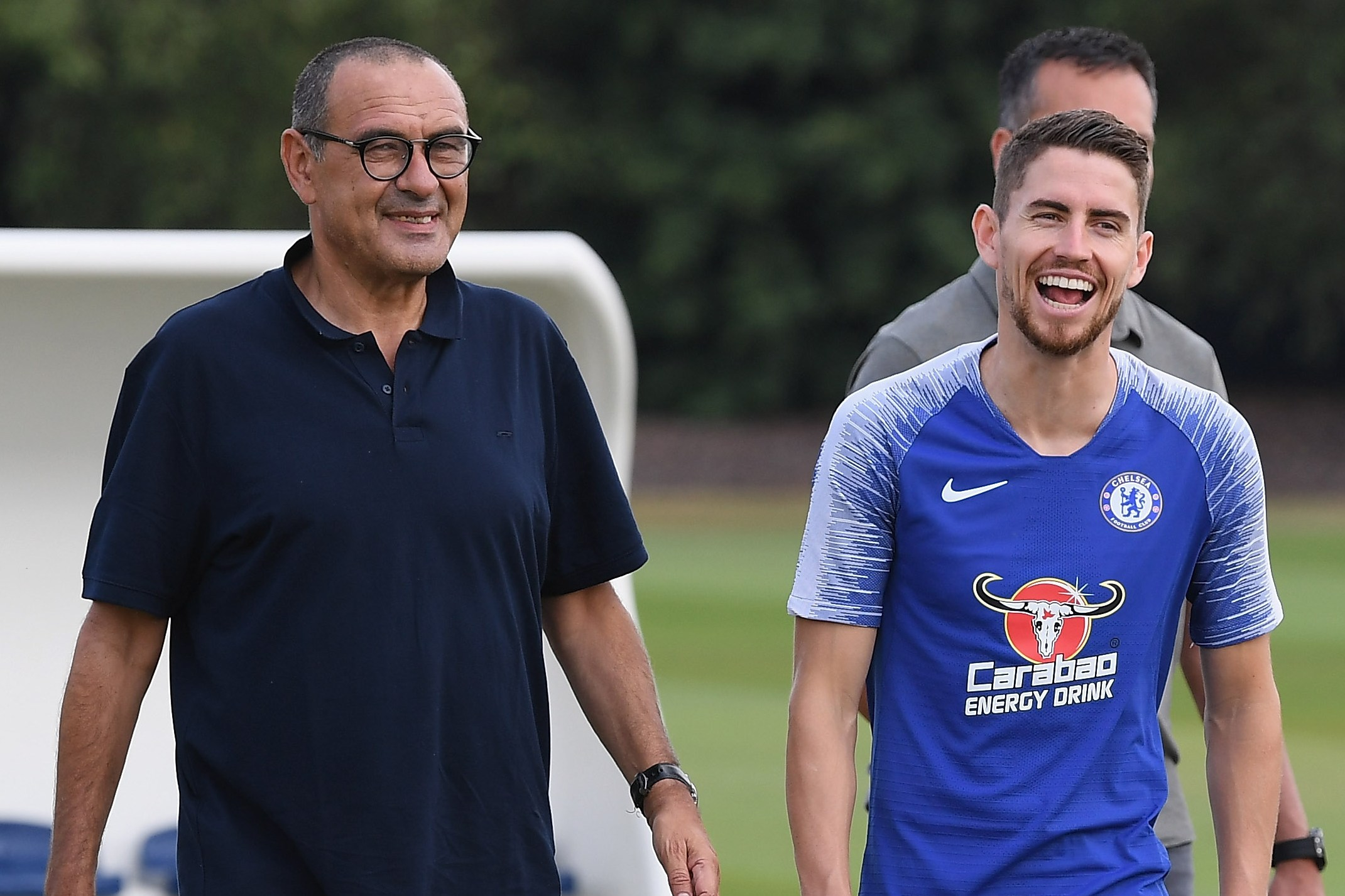 Image result for sarri  and jorginho