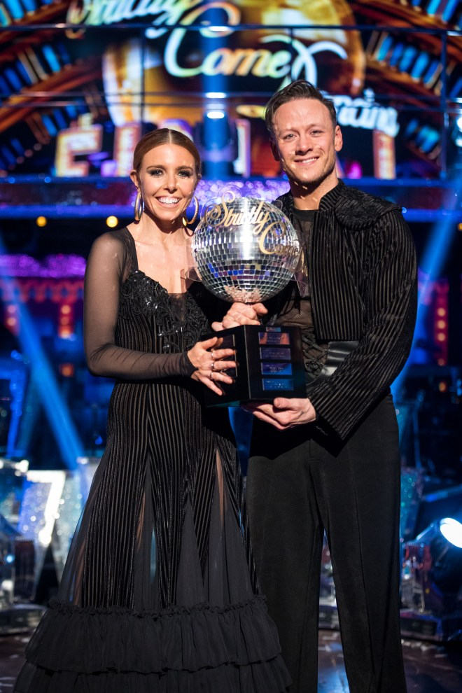 Stacey was partnered with Strictly pro Kevin Clifton
