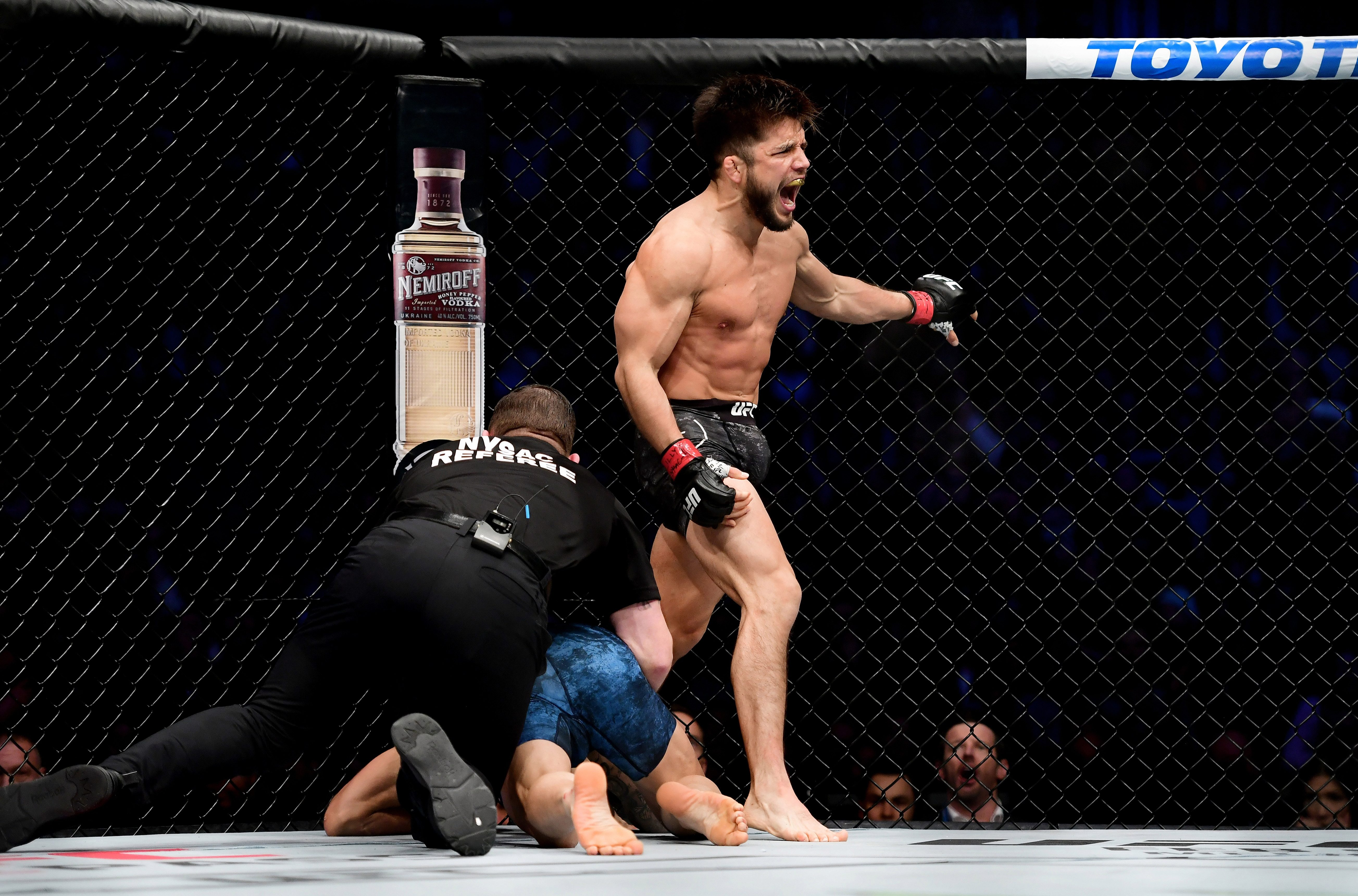 Cejudo beat Dillashaw in January in just 32 seconds, though the challenger deemed the stoppage early and wanted a rematch