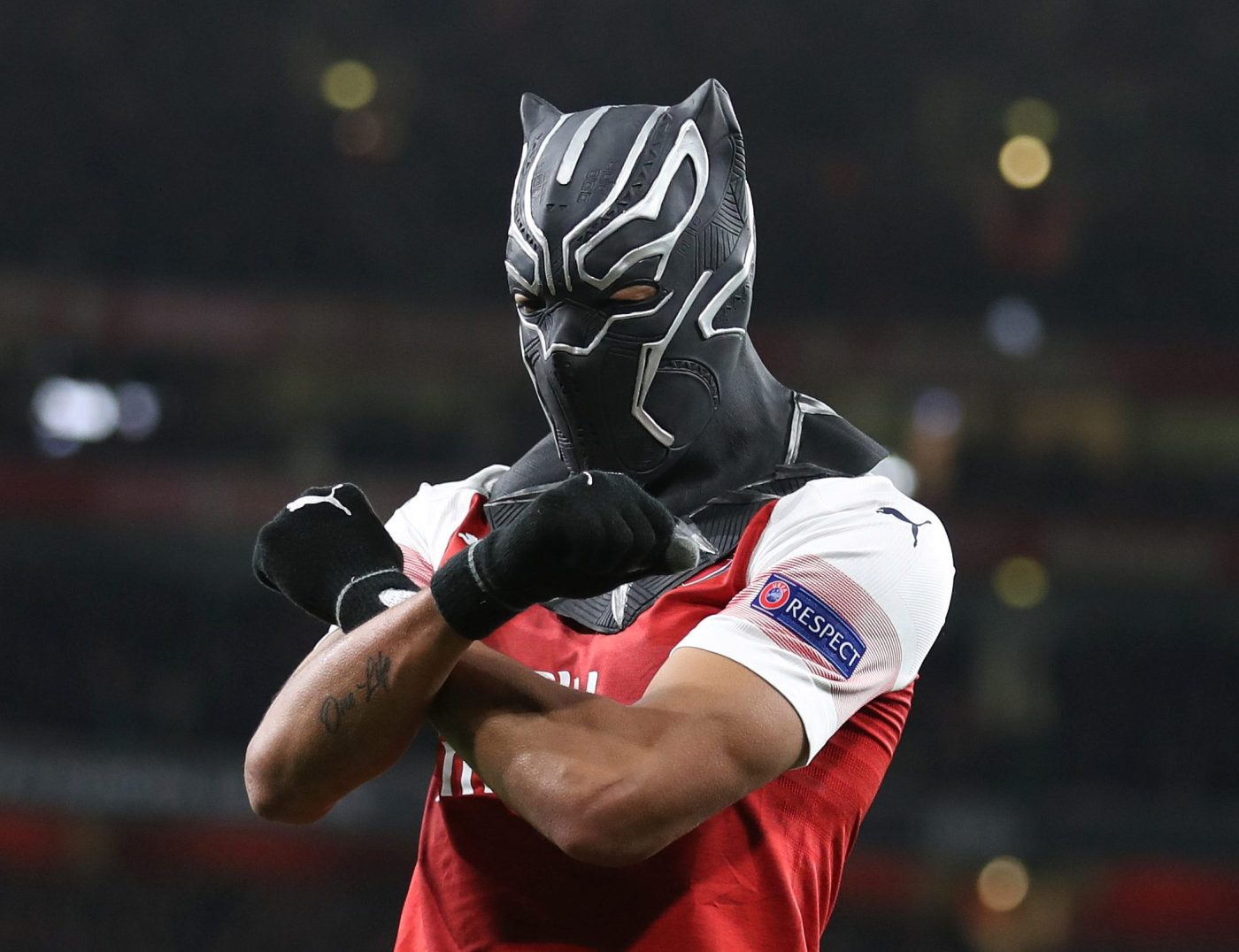 Aubameyang reveals Black Panther mask was tribute to his homeland Gabon  after Arsenal double against Rennes