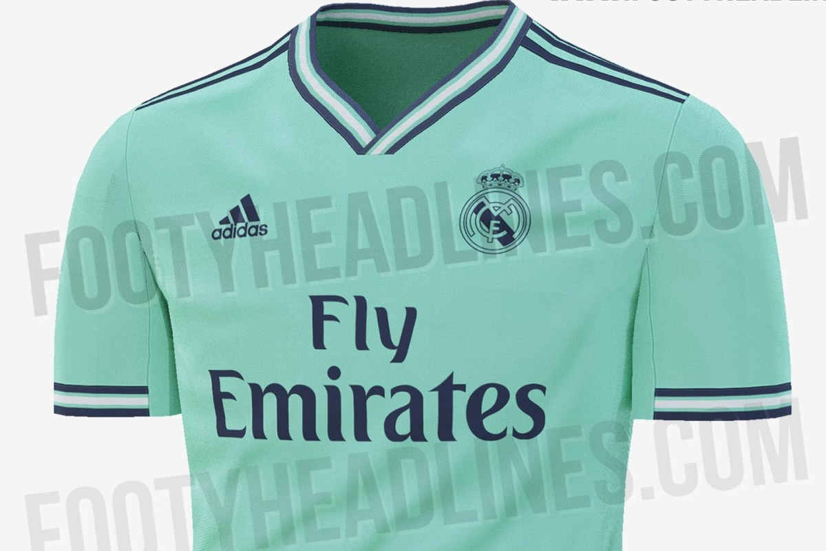 fa04717c2 Real Madrid 2019-20 third kit leaked online... and fans unsure with sick  green colour