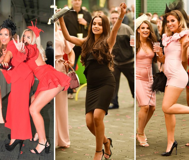 Glam Grand National Girls Get Into The Party Spirit On Aintree Ladies Day As The Bubbly Flows