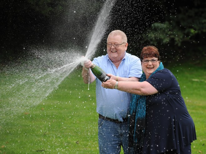 Colin, 71, and Christine Weir, 62, won the EuroMillions £161m jackpot in 2011