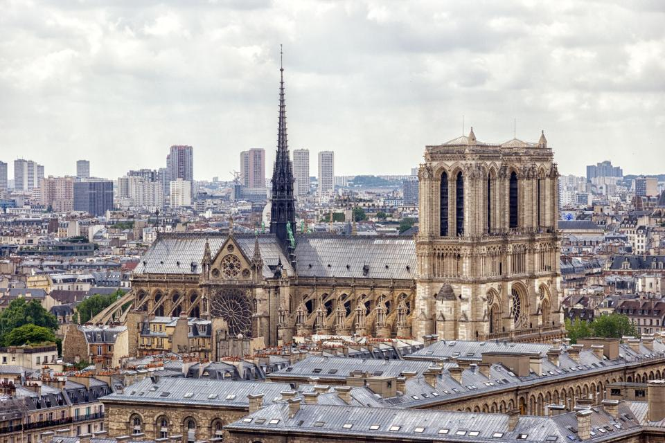 The Notre Dame cathedral has seen 80 kings and two world wars