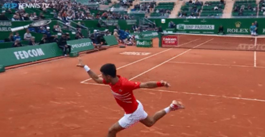 Djokovic then flung his racket into the crown
