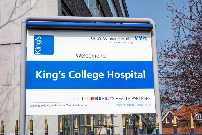 King's College Hospital, where the lad, now ten, suffered serious spinal injury during delivery