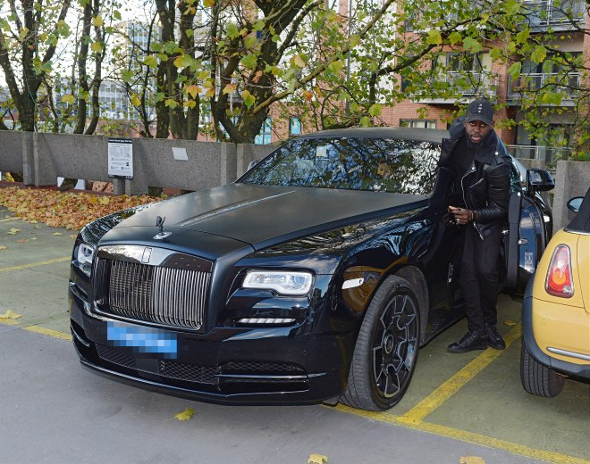 Pogba's favourite car is his Rolls-Royce Wraith Black Badge edition