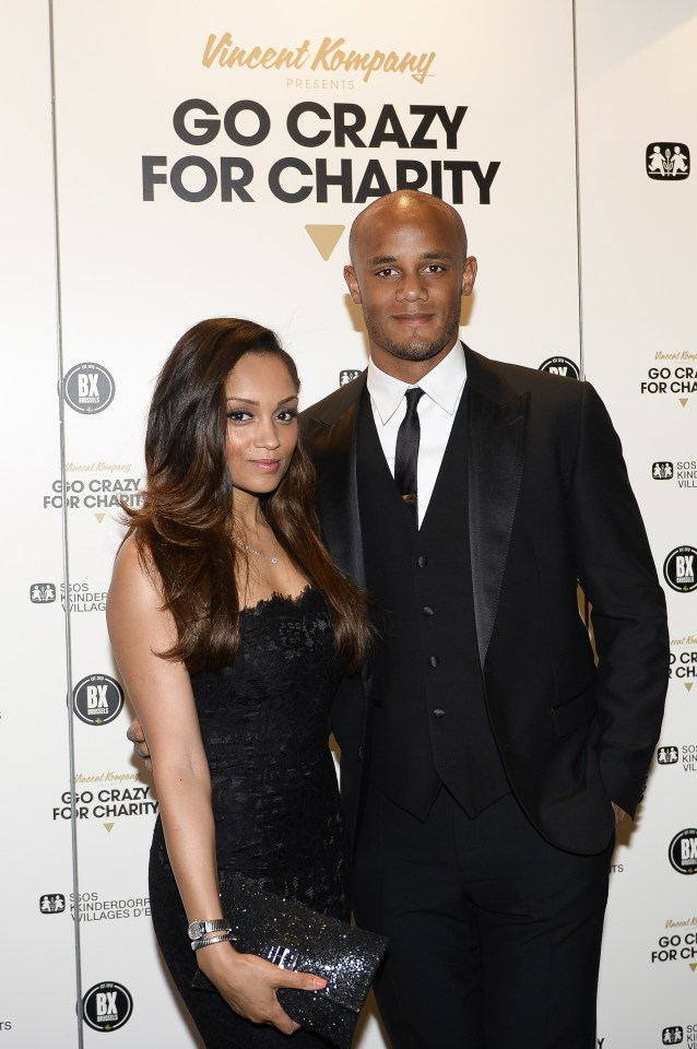 Who is Carla Higgs, how long has she been married to Vincent Kompany and how many appearances has the Man City made?
