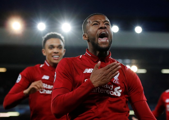 Gini Wijnaldum scored twice off the bench in the famous victory