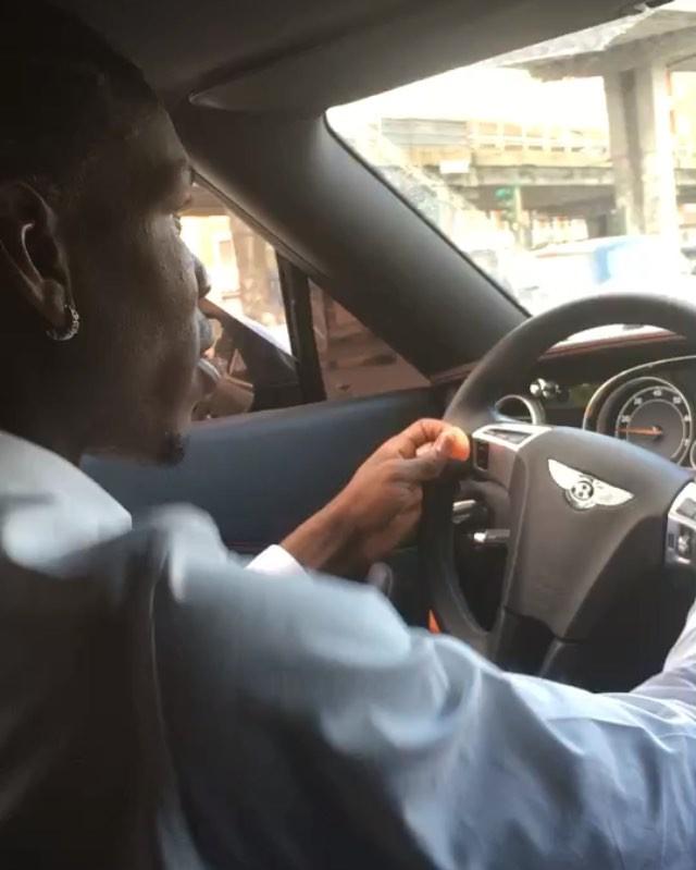 Pogba is a fan of Bentley cars
