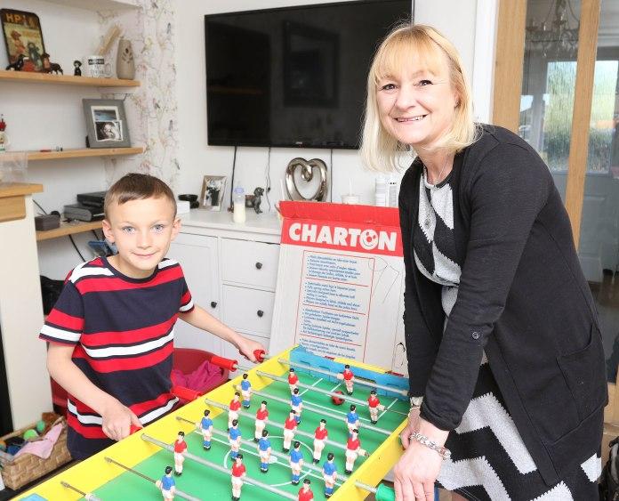 Chrissy Samuels and grandson Warren